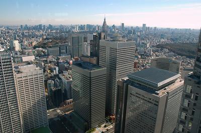 Looking southeast from the Tokyo Metropolitan government building, towards Sendagaya.