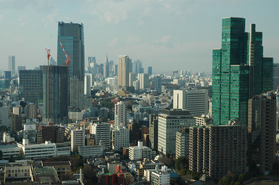 Looking Northwest from the Tokyo Tower.