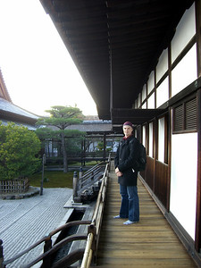 Walking around one of the temples at Ninna-Ji.  No shoes allowed!.