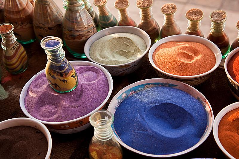 Sand art souvenir.