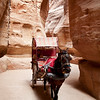 Carriage ride through the siq.<br /> <br /> ...for people that don't feel like walking the 1.2km length of the siq to reach Petra.