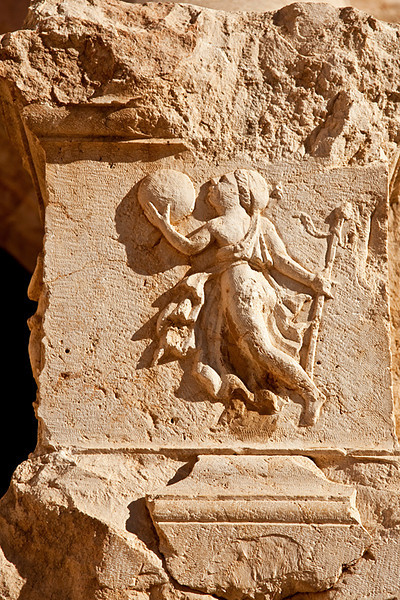 Bas-relief at the North Theatre, Jerash.