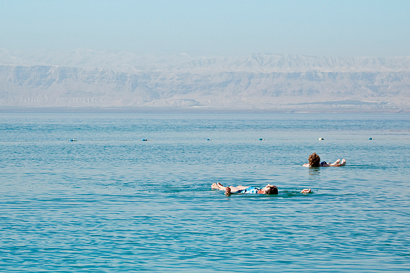 Just floating the day away.  The Dead Sea.<br /> <br /> The Dead Sea is the lowest place on earth and is the world's second-saltiest body of water with a salt content of 31%, nine times that of the ocean.<br /> <br /> I loved, loved floating in it. I could've spent the whole day just doing that. Now if only someone can figure out what to do about reading materials while floating :)