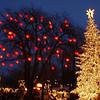 Masse flott belysning og julepynt i Tivoli, København.