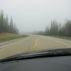 It was foggy in the morning and I was driving all alone