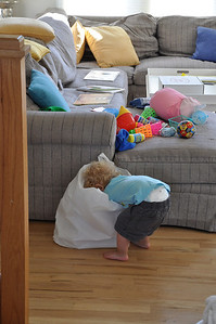 Everett finding the games Noni brought to the beach house
