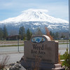 View of Mt Shasta from a rest stop close to the Weed Airport