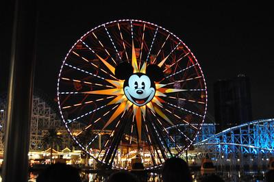 Mickey's Fun Wheel at Night