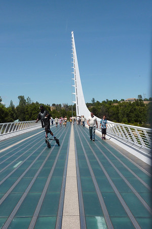 Sundial Bridge Redding  and Mt Shasta 2010