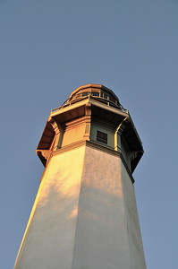 The Westport lighthouse - late afternoon.