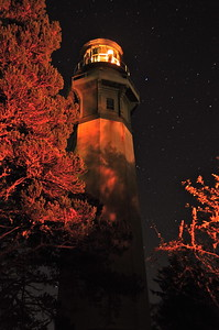 Westport Lighthouse at night