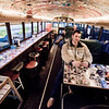 With Dan about to eat a grilled cheese sandwich inside of a school bus. - 2/5/2010