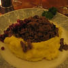 Original Sauteed Reindeer, from Lappi Restaurant lappires.com.  The potatoes weren't really that yellow though<br /> <br /> About a 1.8km walk back to the hotel in -2°C weather.