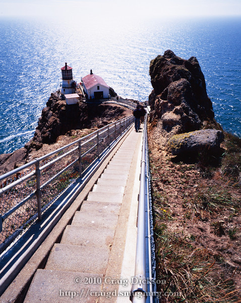 The staircase above the Point Reyes lighthouse