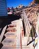 The staircase leading up from the Point Reyes lighthouse