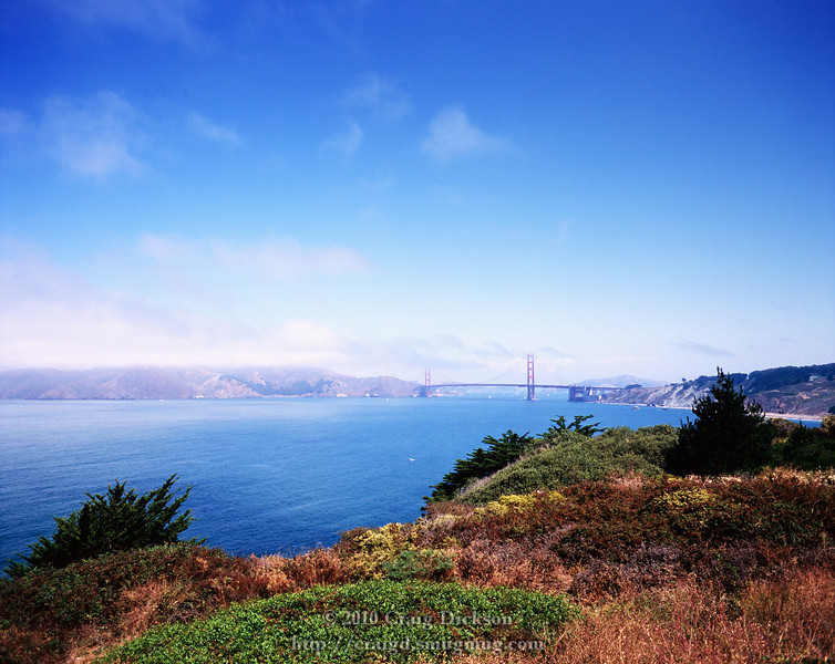 The Golden Gate Bridge from Land's End, San Francisco
