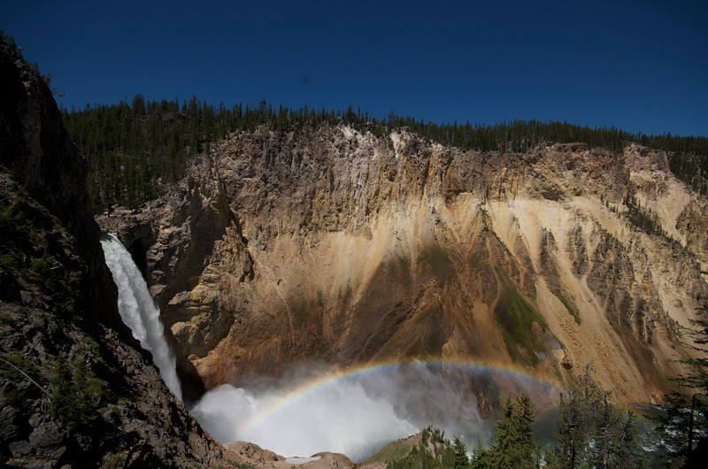 Yellowstone Lower Falls - Uncle Tom's trail - Nothin' but steps!!<br /> Like it? Hover your mouse over the picture and click the green thumb!!