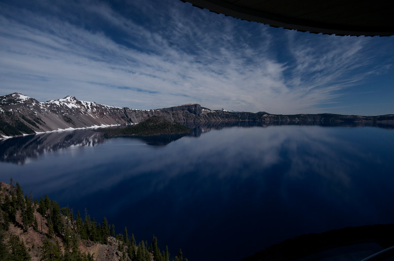 From the overlook near Crater Lake Lodge