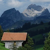 Switz020 SOOO gorgeous! A simple hut for storing hay with the beautiful mountain as a backdrop