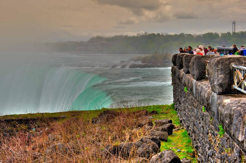 At the edge of Horseshoe Falls