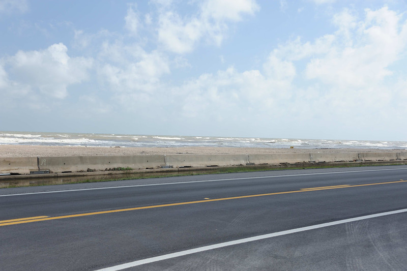 High Island coast line towards Galveston Bay.
