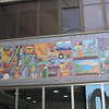 Mural at entry to museum