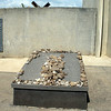 Stones on top of tomb denotes reverance to the dead