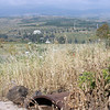 View from Golan Heights into Israel villages that overlook the Sea of Galilee