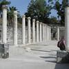 Columns along city street