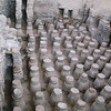 Pedestals holding floor of bathhouse allowed hot water to heat floor