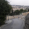Roadway down from Mount of Olives