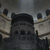 Candle fumes at alter in Church of Holy Sepulchre