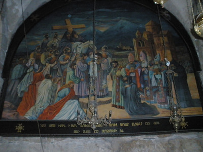 Mural in Church of Holy Sepulchre