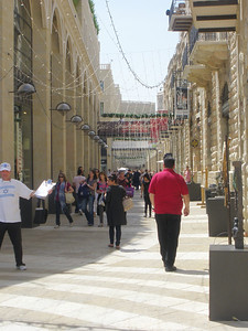 American style shopping mall outside Jaffa Gate