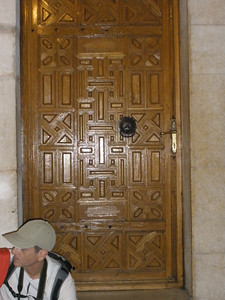 Sculptured door in Church of Holy Sepulchre