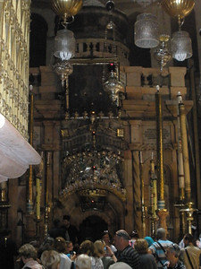 Pilgrims in Church of Holy Sepulchre