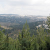 Overlooking the hills near Jerusalem