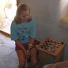 Checker game in progress