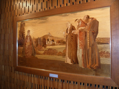 Wood carving portrait of three wise men