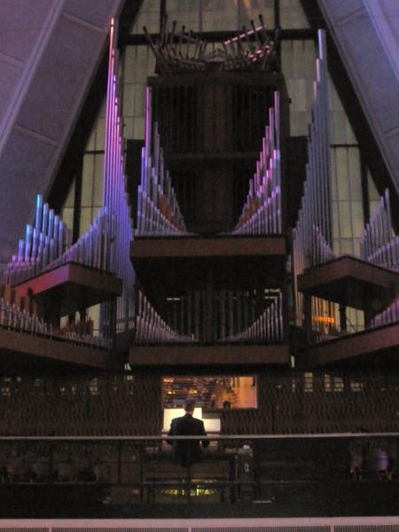 Pipe organ at back of chapel