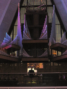 Pipe organ at back of chapel