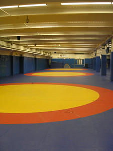 Wrestlers' work out area