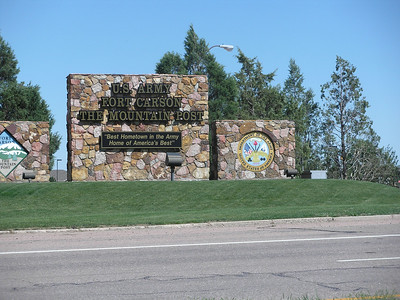 Main gate to Fort Carson