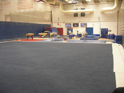 Gymnasts workout area