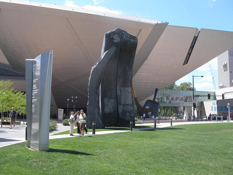 Outside the Art Center