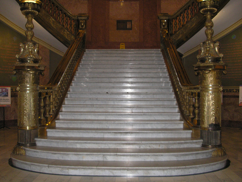 Stairs inside the state capital