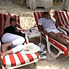 Sylvy and Joey relaxing at Orient Beach