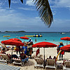 "Orient Beach is St. Maarten's flagship beach and is often referred to as the ""French Riviera of the Caribbean"""