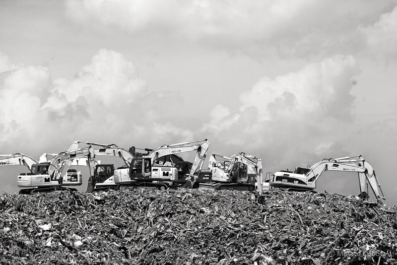 Five months after the tragic Tsunami hit the region - Kesennuma, Miyagi, Japan, August 2011