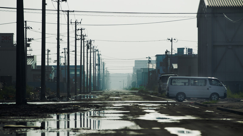 Five months after the tragedic Tsunami hit the region - Ishinomaki, Miyagi, Japan, August 2011